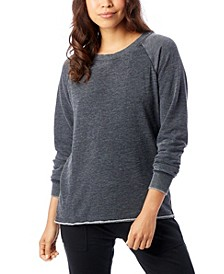 Lazy Day Burnout French Terry Women's Pullover Sweatshirt