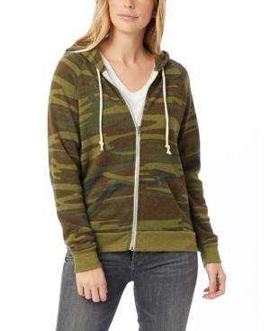 Adrian Printed Eco-Fleece Women's Zip Hoodie