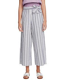 1.STATE Canvas Striped Wide-Leg Pants