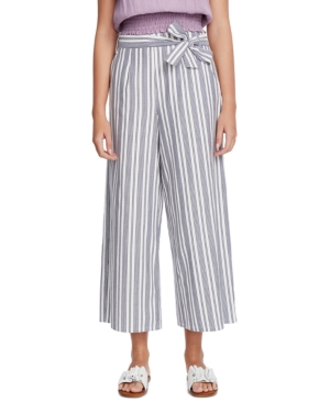 Image of 1.state Canvas Striped Wide-Leg Pants