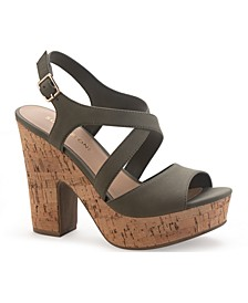 Janayy Crossband Platform Dress Sandals, Created for Macy's