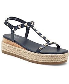 Silvana Studded T-Strap Espadrille Sandals, Created for Macy's