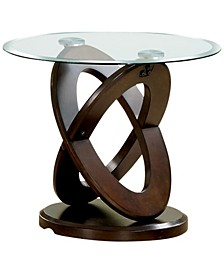 Darbunic Glass Top End Table