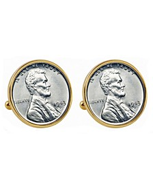 1943 Lincoln Steel Penny Bezel Coin Cuff Links