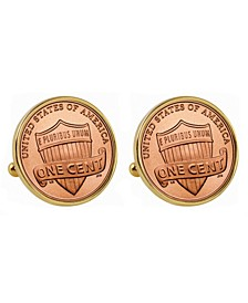 Lincoln Union Shield Penny Bezel Coin Cuff Links