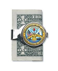 Coin Money Clip W/Colorized Army JFK Half Dollar