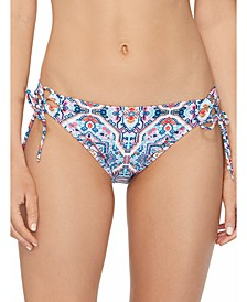 Juniors' Aquarius Rising Sweet Side-Tie Bikini Bottoms