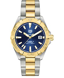Men's Swiss Automatic Aquaracer Stainless Steel & 18K Gold-Plated Bracelet Watch, 41mm