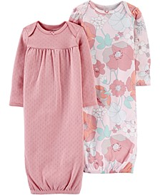 Baby Girls 2-Pack Printed Cotton Sleeper Gowns