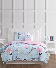 Paris Princess Full 4 Piece Comforter Set