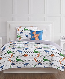 Dino Tracks Twin 3 Piece Quilt Set