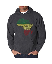 Men's Countries in Africa Word Art Hooded Sweatshirt