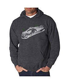 Men's Ski Word Art Hooded Sweatshirt