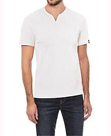 Men's Soft Stretch Slit V-Neck T-Shirt