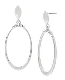 Stone Crown Gypsy Hoop Earrings