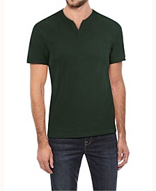 Men's Soft Stretch Slit V-Neck T-Shirt