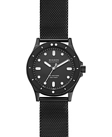 Women's Fisk Black-Tone Stainless Steel Mesh Bracelet Watch 38mm