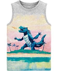 Little Boys Dinosaur Jersey Tee