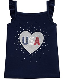 Toddler Girls Glitter USA Tank