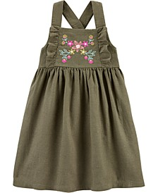 Toddler Girls Embroidered Pinafore Dress