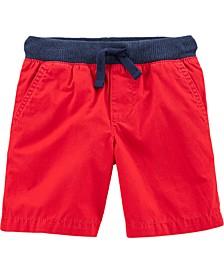 Toddler Boys Pull-On Poplin Shorts