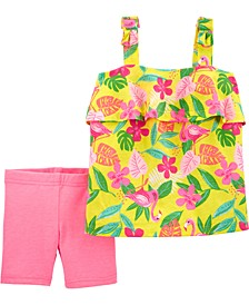 Baby Girls 2-Piece Tropical Tank and Short Set