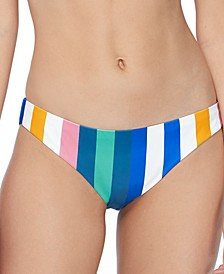 Juniors' Beach Please Striped Bikini Bottoms