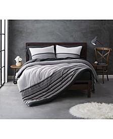 Knit Stripe Jersey Full/Queen Comforter Set