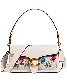 Coated Canvas Tabby Floral Shoulder Bag