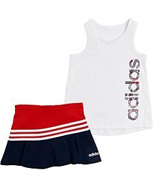Baby Girls 2-Pc. Logo Tank Top & Scooter Skirt Set