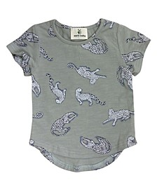 Baby Boys and Girls Organic Cotton Leopard T-Shirts