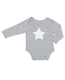 Baby Boys Bamboo Embroidery Star Long Sleeve Onesie