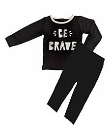 Baby Boys Bamboo Long Sleeve 2 Piece Be Brave Pajamas Set