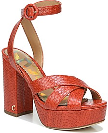 Kamy Cross-Band Platform Sandals