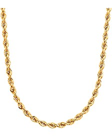"Men's Glitter Rope 24"" Chain Necklace (4.5mm) in 14k Gold"