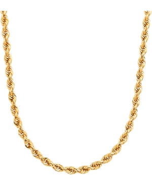 """Men's Glitter Rope 24"""" Chain Necklace (4.5mm) in 14k Gold"""