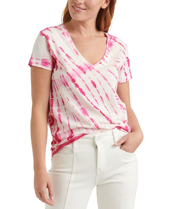 Lucky Brand - Tie-Dyed Essential Cotton T-Shirt