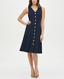 Button-Front A-Line Dress
