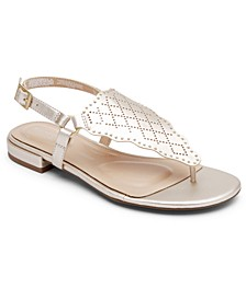 Women's Total Motion Zosia Wave Toe-Thong Sandals