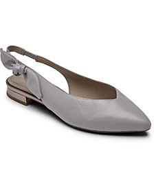 Women's Total Motion Zuly Bow Slingback Flats
