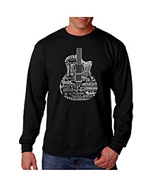 Men's Word Art - Languages Guitar Long Sleeve T-Shirt