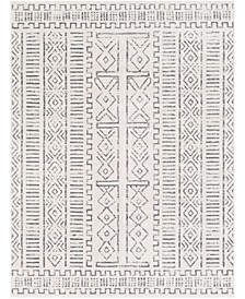 """Roma ROM-2328 Charcoal 7'10"""" x 10' Area Rug"""