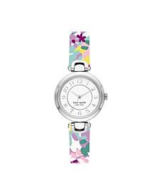 Rainey Park Multicolor-Print Reversible Leather Watch, 30MM