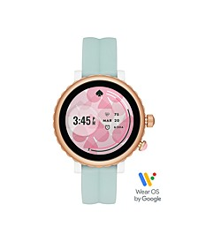 Sport Mint Silicone Touchscreen Smartwatch, 42MM