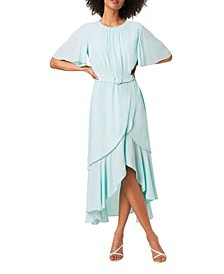 Emina Draped Belted Maxi Dress
