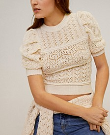 Openwork Cotton Sweater