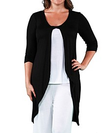 Women's Plus Size Cardigan