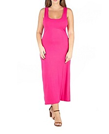 Women's Plus Size Racerback Maxi Dress