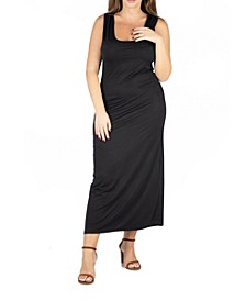 Women's Plus Size Racerback Maxi Dress