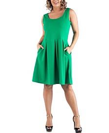 Women's Plus Size Sleeveless Dress